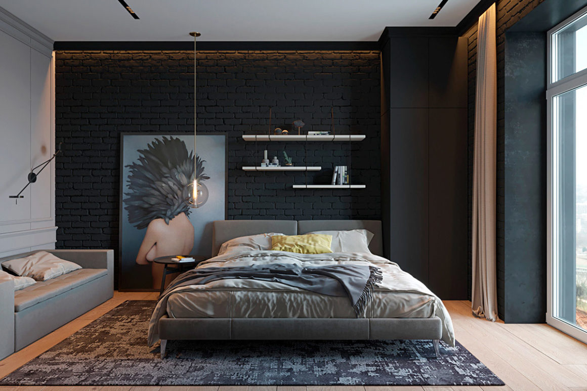apartamento eclético dark
