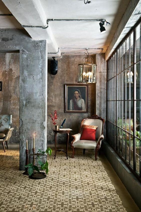 apartamento estilo industrial e antigo