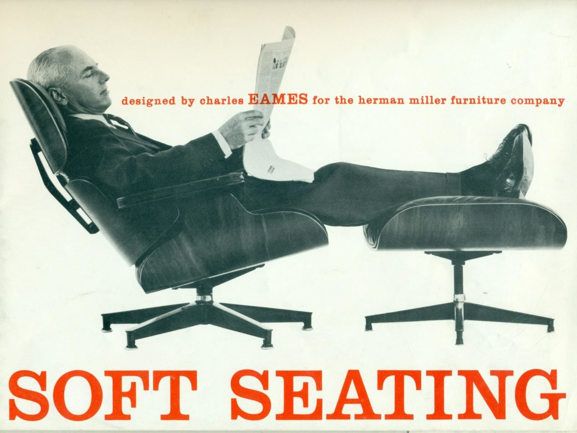 imagem antiga revista eames lounge chair soft seating revista