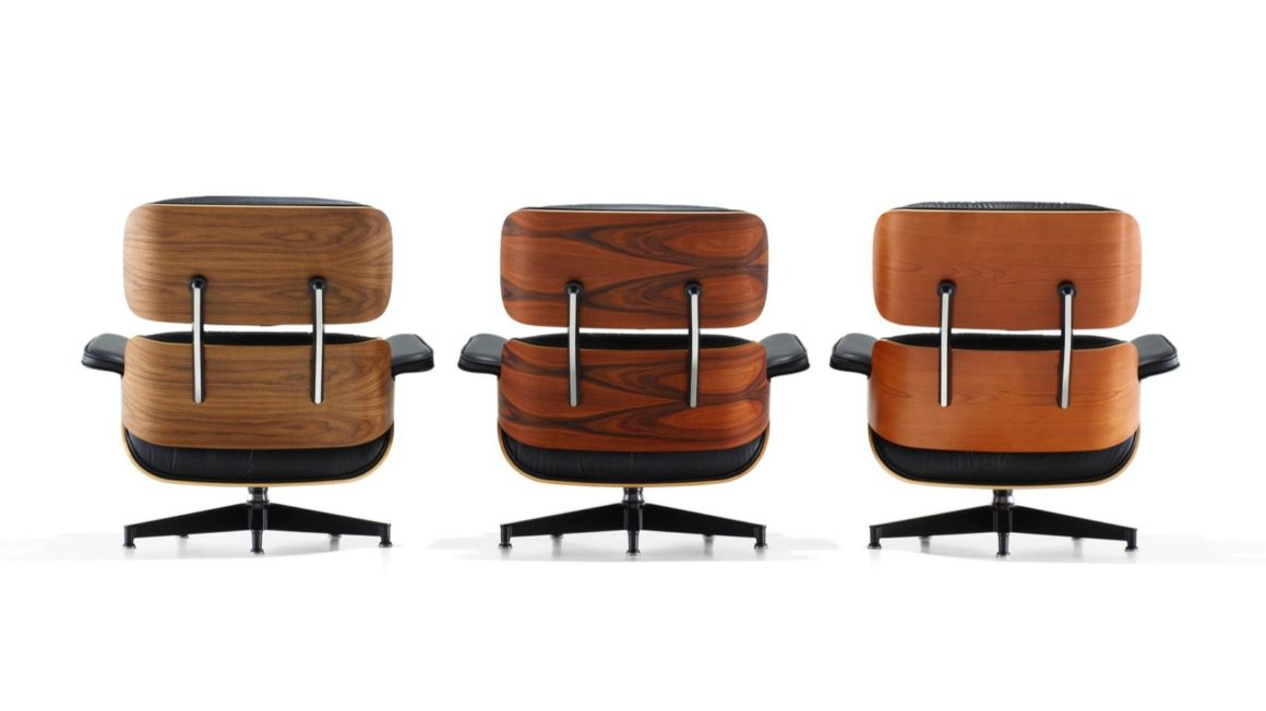 cadeiras eames lounge chair tons de madeira